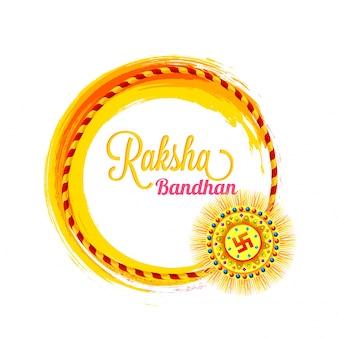 Bella Rakhi decorativa per Raksha Bandhan.