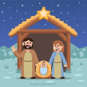 Bella sfondo della nascita di Gesù