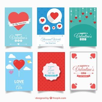 Bella valentin carte pacchetto di giorno