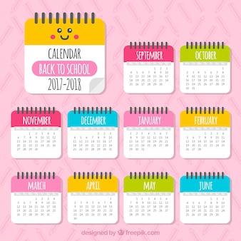 Bellissimo calendario 2017-2018