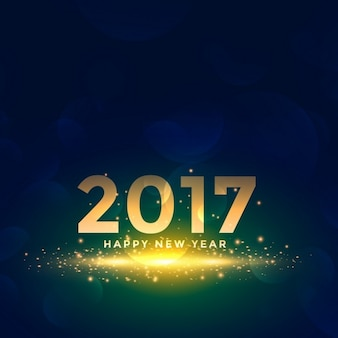Bellissimo nuovo anno 2017 fondo con effetto scintille