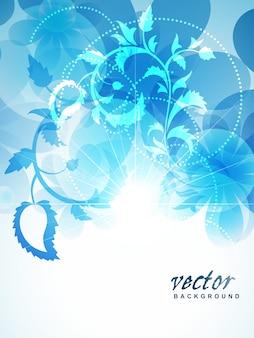 Bello sfondo blu del fiore di colore blu
