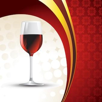 Bicchiere di vino su sfondo vintage