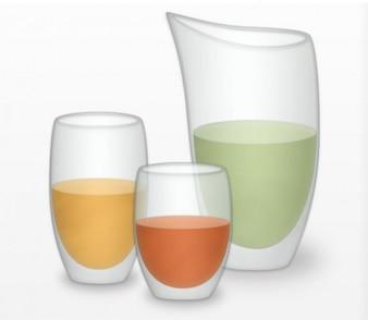 Bicchieri e caraffa illustrazione vettoriale