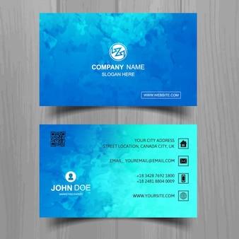 Biglietto da visita blu