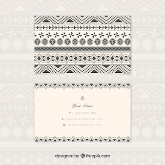 Biglietto da visita Boho con forme geometriche