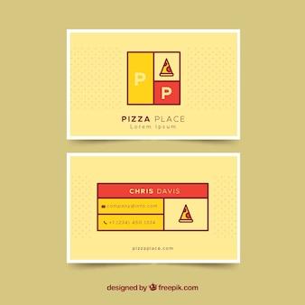 Biglietto da visita con fetta di pizza