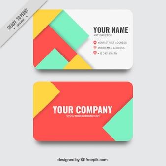 Biglietto da visita con forme geometriche in vari colori
