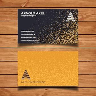 Biglietto da visita elegante con struttura in oro