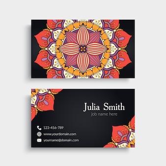 Biglietto da visita Elementi decorativi d'oro Ornamentali biglietto da visita floreale illustrazione vettoriale orientale pattern
