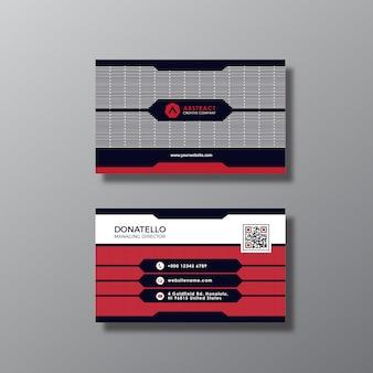 Biglietto da visita nero e rosso