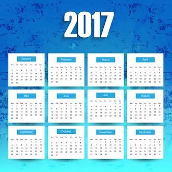 Blu 2017 calendario