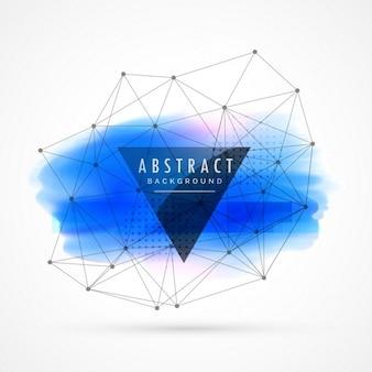 Blu acquerello sfondo, tema di tecnologia