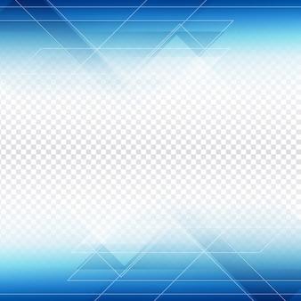 Blu disegno di figura poligonale su sfondo trasparente