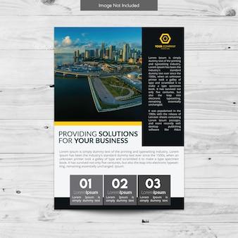 Blu e grigio progettazione brochure business