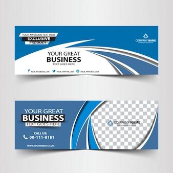 blu intestazione astratto business