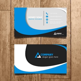 Blu Minimal Business Card
