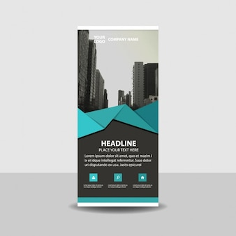 Blue Black creativo roll up banner template