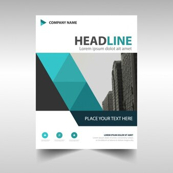 Blue Black relazione annuale modello di copertina del libro creativo