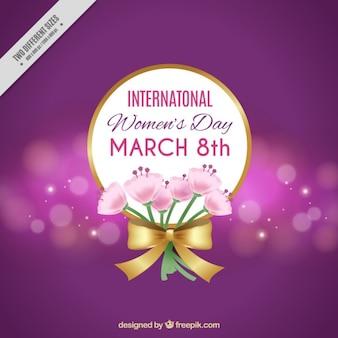 Bokeh con bouquet per il giorno delle donne