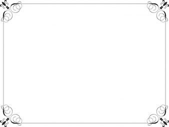 Bordo decorativo nero su sfondo bianco