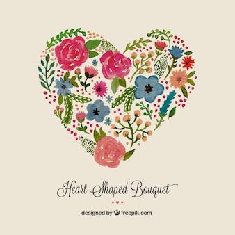 Bouquet di cuore a forma di