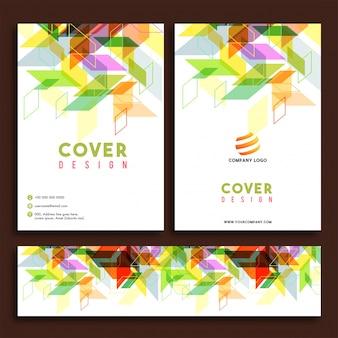 Brochure aziendali, relazione annuale e copertina.
