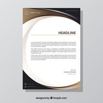 Brochure con forme marrone ondulato