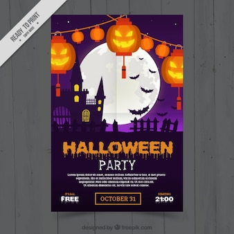 Brochure decorativo festa di halloween