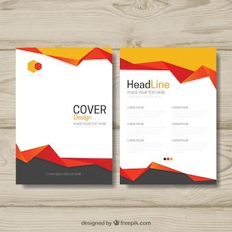 Brochure elegante con forme astratte