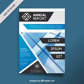Brochure moderna con forme geometriche