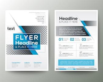 Brochure poster blu Flyer design modello di layout