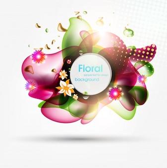 Brochure sfondo decorazione volteggiare eps10