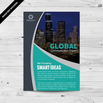 Brochure smart business con il colore acquamarina