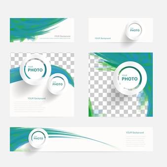Brochure vettoriale con cerchi e ondate