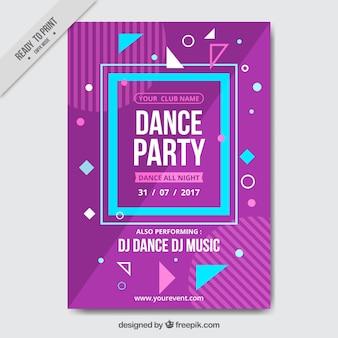 Brochure viola e blu del partito