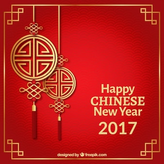 Buon Anno cinese su uno sfondo rosso