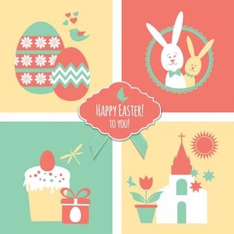 Buona Pasqua decorazioni festive