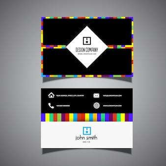 Business card template con design moderno a righe