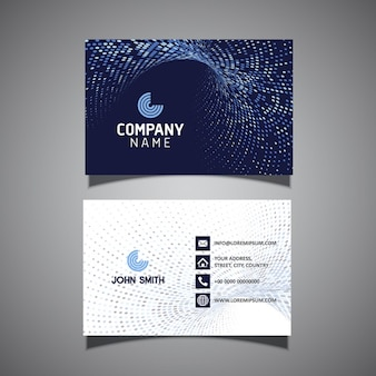 Business card template con un design moderno mezzitoni punti