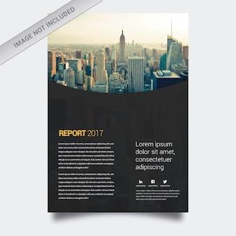 Business report black design
