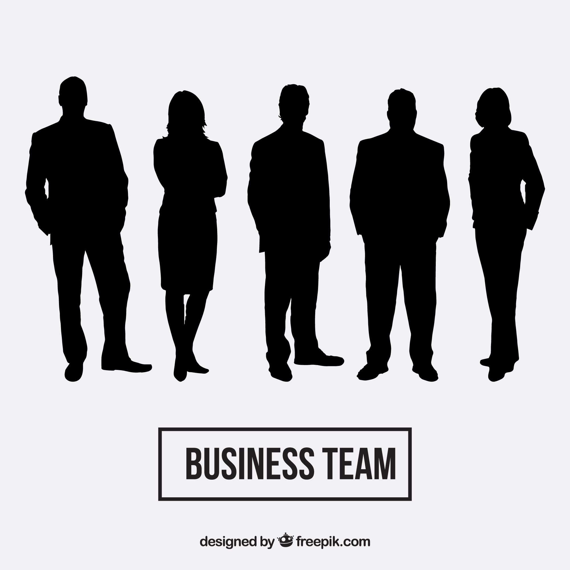 Business team delinea pacchetto