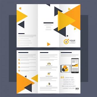 Business Tri-Fold Leaflet, Brochure, Template design.