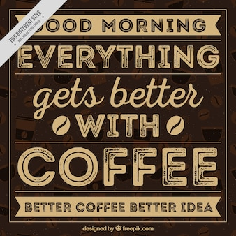 Caffè scritta in stile vintage