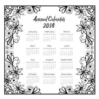 Calendario floreale 2018