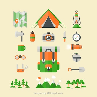 Camping icons