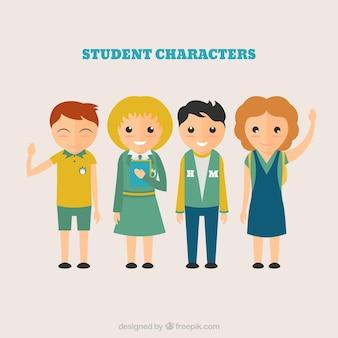 Caratteri studenti pacco