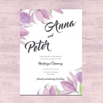 Card design floreale di nozze