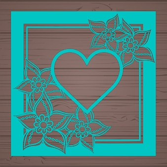 Card template auguri floreale