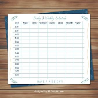 Carino calendario planner settimanale